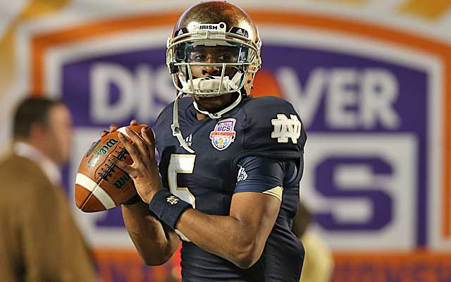Everett Golson says he's now gripping the laces on every throw, something he grew up never doing.  (USATSI)