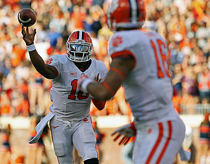 Tajh Boyd surpasses Philip Rivers for most TDs in ACC history with three passes for scores in Clemson's win over Virginia. (USATSI)