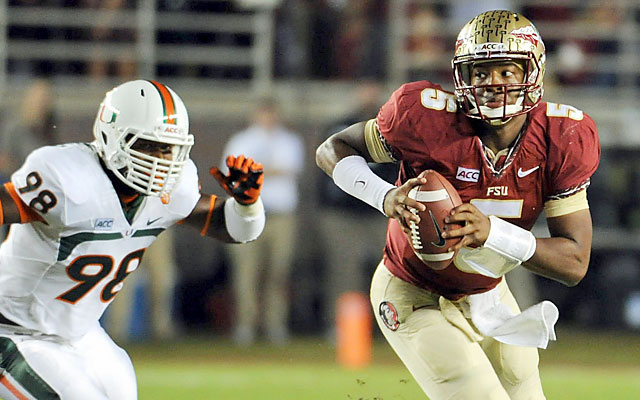 Jameis Winston isn't bad against Miami, but doesn't do enough to emerge as the Heisman frontrunner. (USATSI)