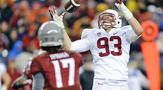 Trent Murphy is a terror for a tough Cardinals defense.  (USATSI)