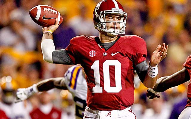 AJ McCarron led the Tide past the Tigers in Baton Rouge last season.   (USATSI)