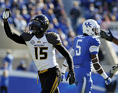 Missouri receiver Dorial Green-Beckham pulls down four touchdown passes as the Tigers roll to an easy win over Kentucky. (USATSI)