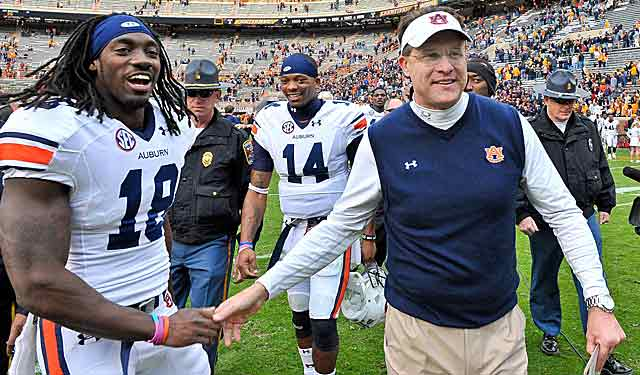 Gus Malzahn has Auburn at 9-1 overall,  5-1 in SEC play. Any questions? (USATSI)