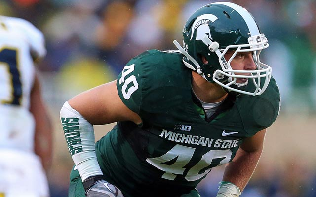 Leading the best defense in the nation doesn't mean Max Bullough is up for awards. (USATSI)