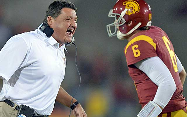USC players have rallied under the fiery Orgeron, who has made having fun a priority.  (USATSI)