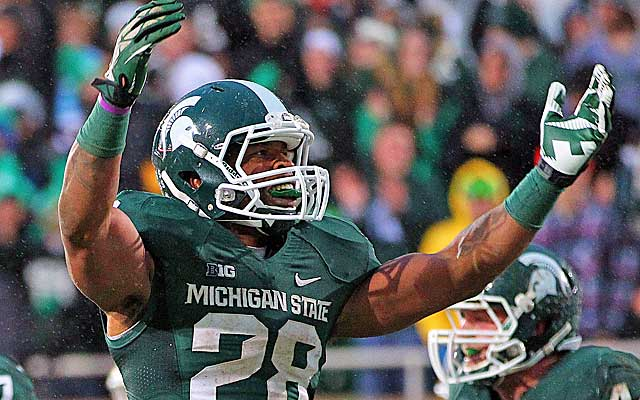 Denicos Allen and the top-ranked Spartans defense will look to feast on a limited Huskers offense.  (USATSI)