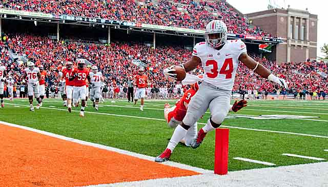 Carlos Hyde dances in for a TD, but the Buckeyes need a different brand of style points. (USATSI)