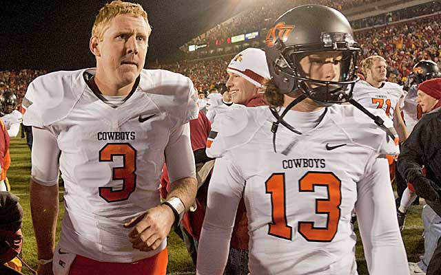Brandon Weeden and the Cowboys blew their BCS title hopes with a costly November loss in 2011.  (USATSI)