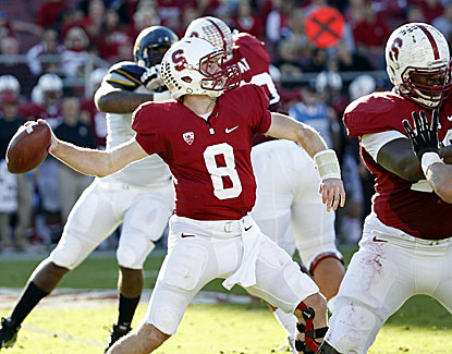 Stanford quarterback Kevin Hogan sets a career high with 329 yards through the air and five TD passes. (USATSI)
