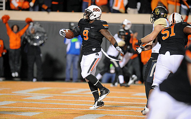 Oklahoma State blasts Baylor and closes in on its second Big 12 title in three seasons. (USATSI)