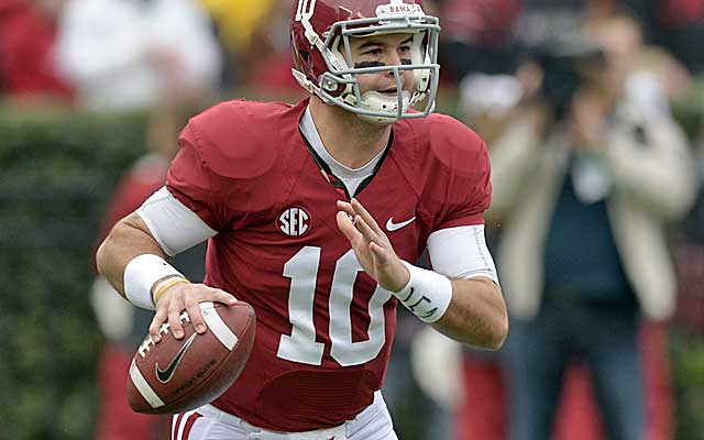 AJ McCarron has as many national title rings as he does losses as Alabama's starter.  (USATSI)