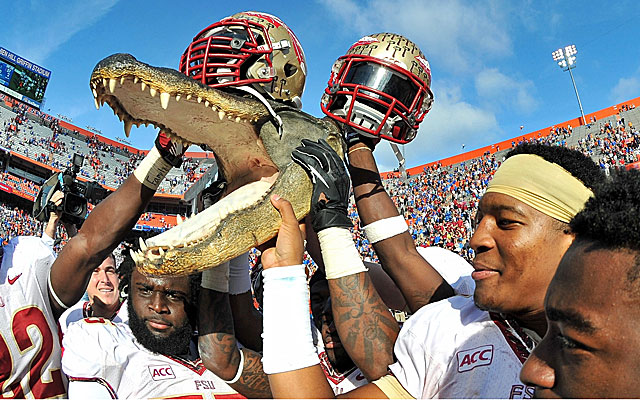 Florida State and Florida are two programs heading in opposite directions as the No. 2 Noles rip the Gators in Gainesville. (USATSI)