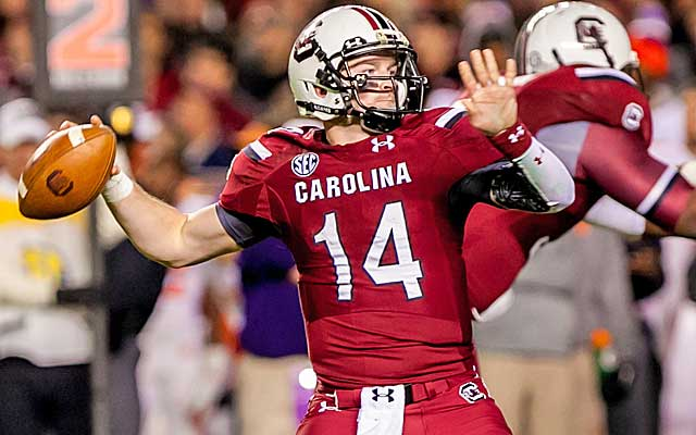 Connor Shaw keeps his home record as a starter perfect with a win over Clemson.  (USATSI)