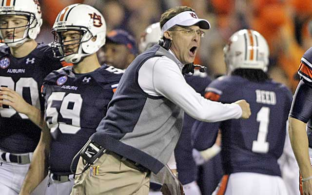 Gus Malzahn has worked magic with an Auburn team that failed to win an SEC game in 2012   (USATSI)