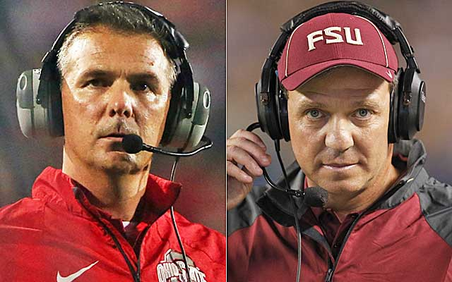 Ohio State and Florida State will likely play in the BCS title game if both win Saturday.  (USATSI)