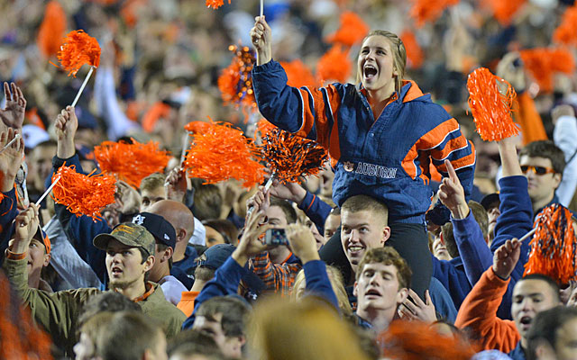 Auburn fans will let everyone know the Tigers knocked off the two-time defending champs. (USATSI)