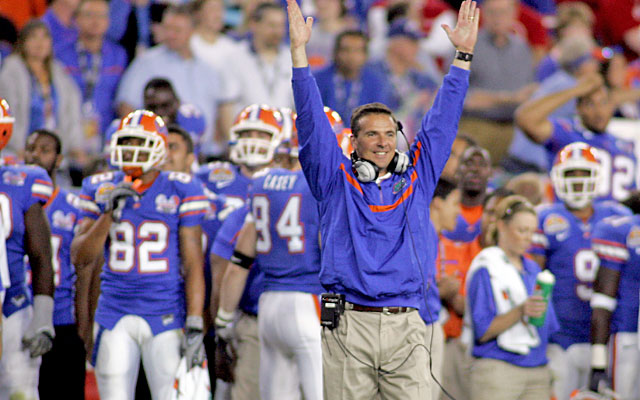 Florida (and Urban Meyer) started the SEC's run of dominance in 2006 but needed some help. (Getty Images)