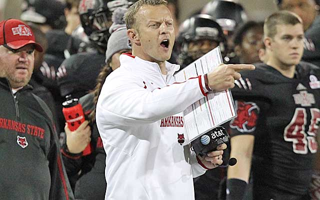 Bryan Harsin, 37, played quarterback for the Broncos from 1995 to 1999.  (USATSI)