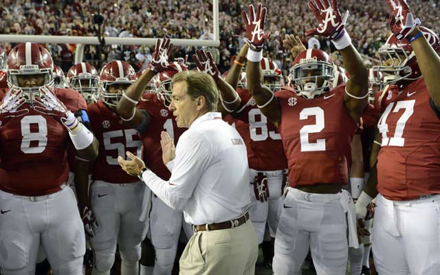 Alabama will hold on to Saban, who has three titles with the Tide. (USATSI)
