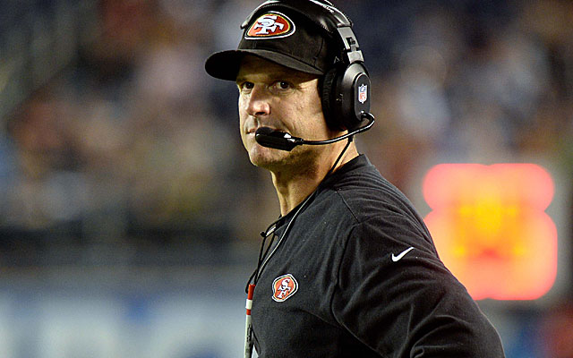 Could Texas lure an NFL coach, like the 49ers' Jim Harbaugh? (USATSI)
