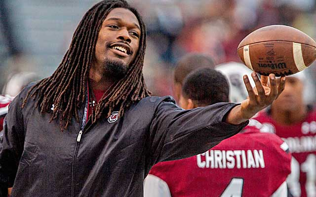 Jadeveon Clowney has been caught speeding for the second time in a month. (USATSI)