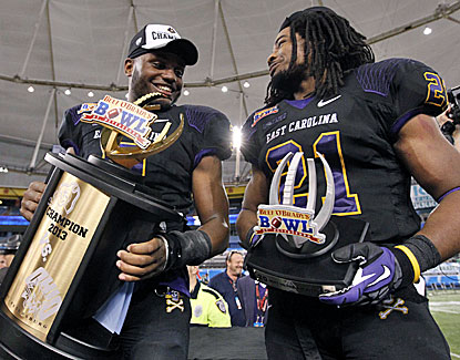 ECU's Cedric Thompson (left) and Vintavious Cooper are taking home the hardware after their win over Ohio.  (USATSI)