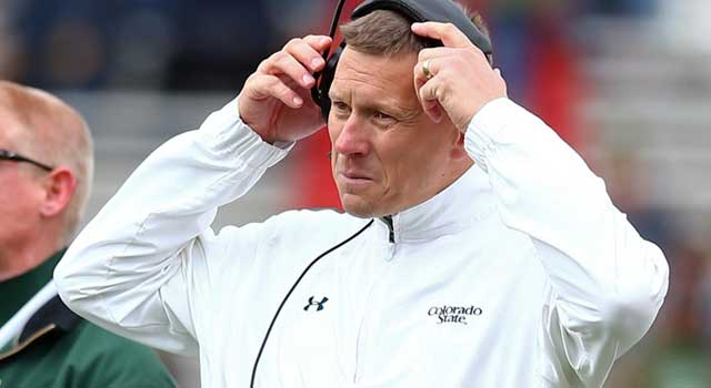 Colorado State defensive line coach Greg Lupfer was suspended for two weeks. (USATSI)