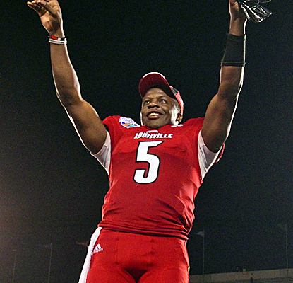 Teddy Bridgewater leaves a lasting impression if he indeed decides to declare for the NFL Draft.   (USATSI)