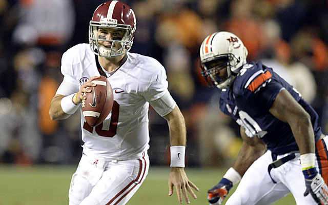 AJ McCarron had Alabama programmed for another BCS title game appearance, until ... (USATSI)