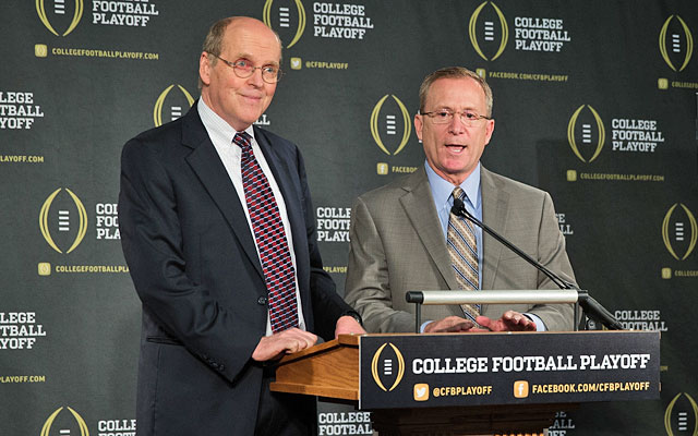 BCS boss Bill Hancock will run the playoff; Arkansas AD Jeff Long chairs the selection committee. (USATSI)