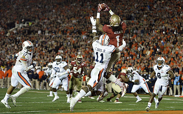 Kelvin Benjamin's TD catch ended Auburn's dream season and the SEC's BCS streak. (USATSI)