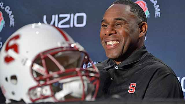 Derek Mason has been the architect of suffocating defenses at Stanford.   (USATSI)
