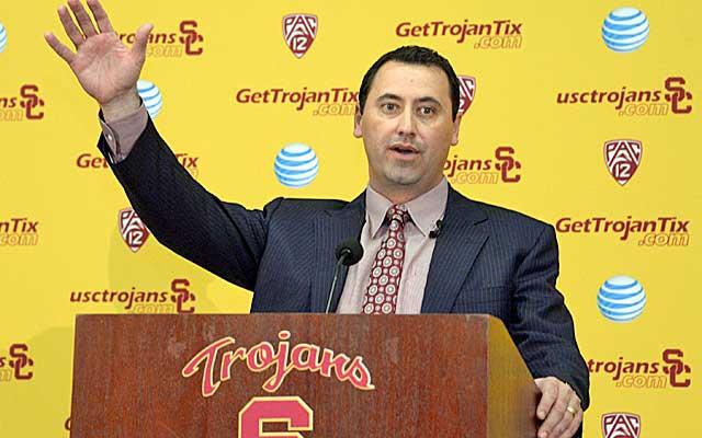 Steve Sarkisian faces sky-high expectations at USC.   (USATSI)