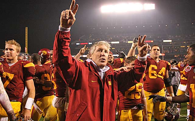 Carroll rebuilt USC into a dynasty before taking the same blueprint to Seattle.  (Getty Images)