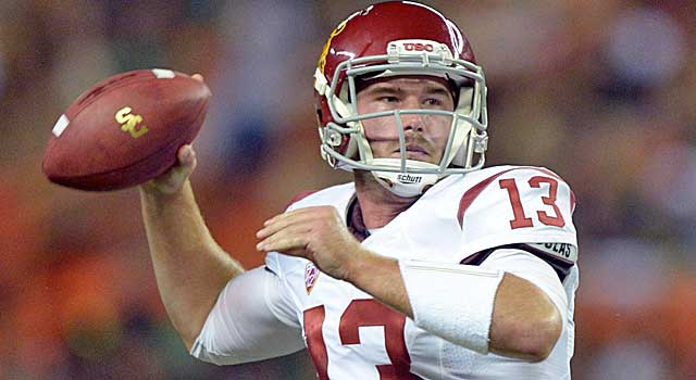 Max Wittek went 50 of 95 for 600 yards, three TDs and six INTs at USC. (USATSI)