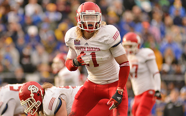 One scout's praise for Tyler Starr: 'Extremely athletic and plays with a high motor.' (University of South Dakota)