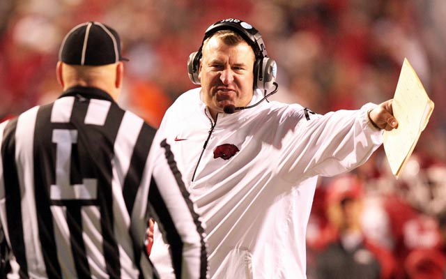 Bret Bielema will have to wait at least a year for the '10-second rule.'  (USATSI)