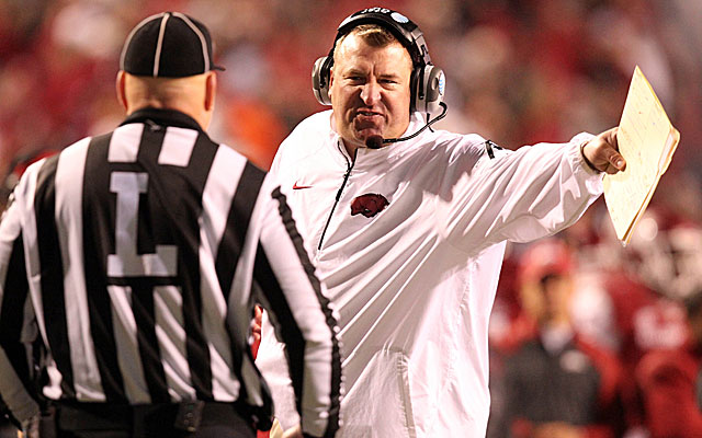 Bret Bielema's stance on the 10-second rule has lost some credibility. (USATSI)