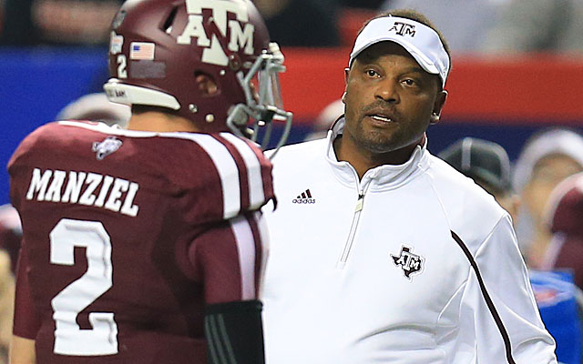 Kevin Sumlin will continue to make noise in Aggieland, even with Johnny Football gone. (USATSI)