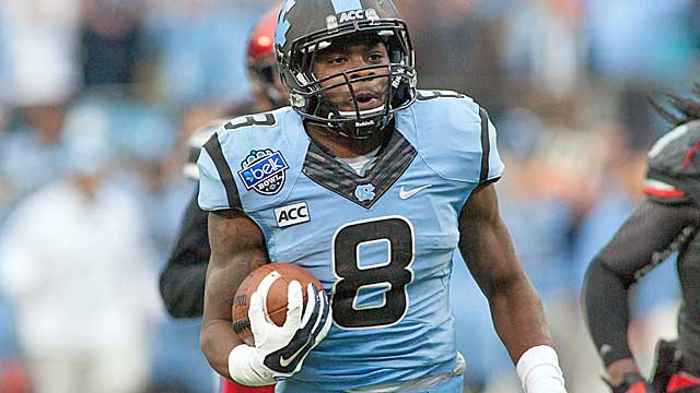 North Carolina sophomore running back T.J. Logan may be on the verge of a breakout year.   (USATSI)