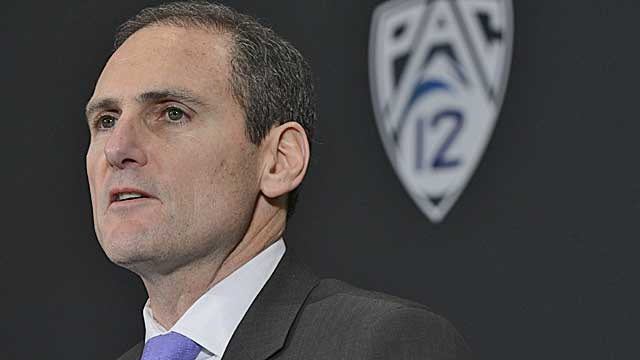 According to USA Today, Larry Scott was the highest paid commissioner in 2012-13.  (USATSI)