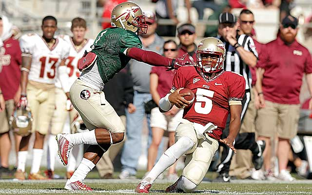 Jameis Winston threw it 56 times in the Garnet and Gold spring game Saturday. (USATSI)