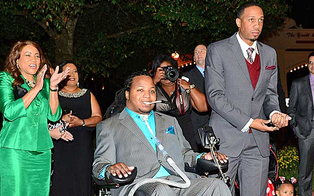 Inez Walker(second from left) and the Tulane community have been behind Devon Walker since his neck injury.  (Provided to CBSSports.com)