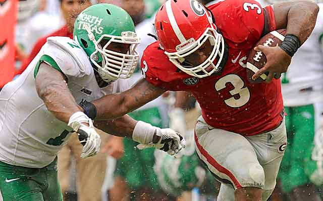 When it comes to budgets, SEC schools like Georgia are on a different playing field than the likes of North Texas.    (USATSI)