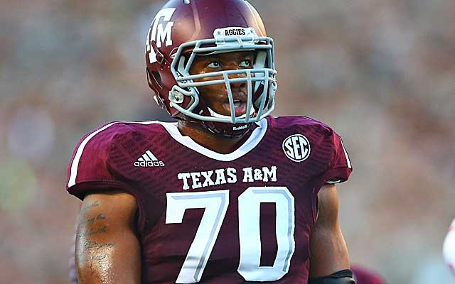 Cedric Ogbuehi says he likely would be in the NFL if not for Texas A&M's financial help.  (USATSI)