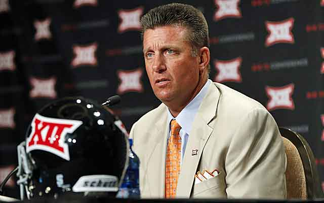 Oklahoma State's Mike Gundy doesn't like lobbying, but he might have to in the playoff era. (USATSI)