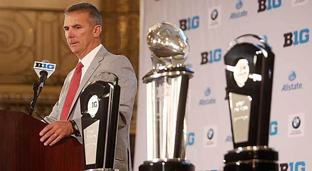 Urban Meyer, Ohio State and the Big Ten are left out of this mock playoff. (USATSI)