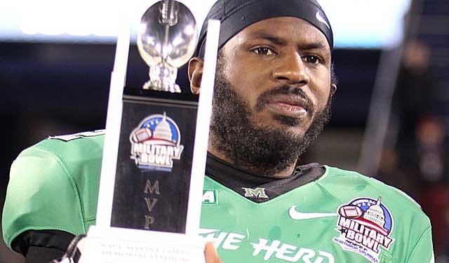 MVP of the Military Bowl, does Marshall's Rakeem Cato deserve a shot at a bigger award? (USATSI)