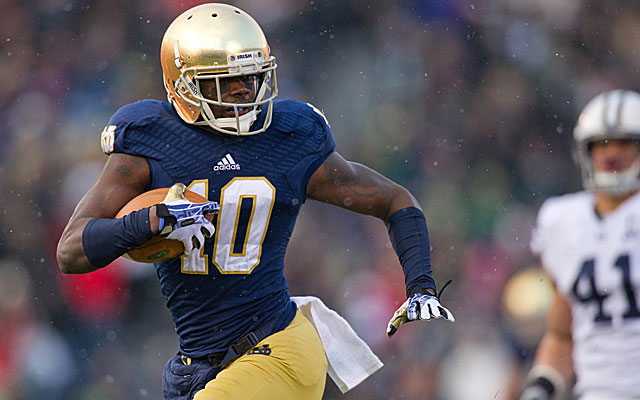 DaVaris Daniels is said to have denied any wrongdoing at Notre Dame.  (USATSI)