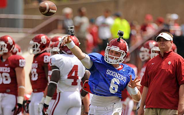 Baker Mayfield has a scholarship at Oklahoma, but can he play?(USATSI)